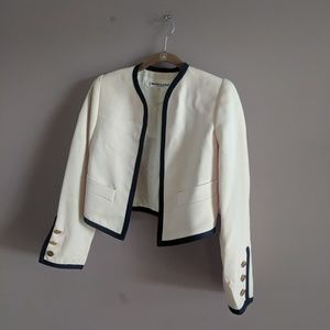 Vtg Saint Laurent Rive Gauce 34 Open Blazer Jacket